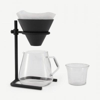 MADE.COM Kinto koffiezetter voor filterkoffie met steun + 4 kopjes, multi