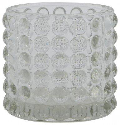HEMA HEMA Sfeerlichthouder Ø5.5x7 Glas Transparant