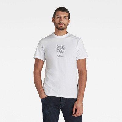 G-Star RAW G-Star Reflective Multi Graphic T-Shirt - Wit - Heren