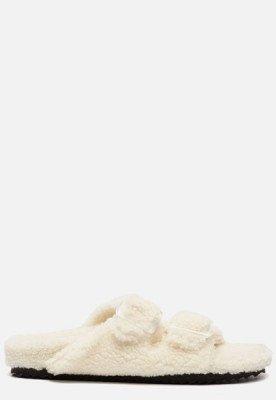 Colors of California Colors of California Furry Bio pantoffels wit