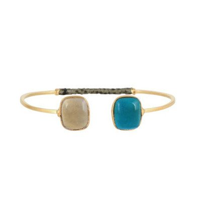 Gas Bijoux Duality Honore Gold Plated Bracelet