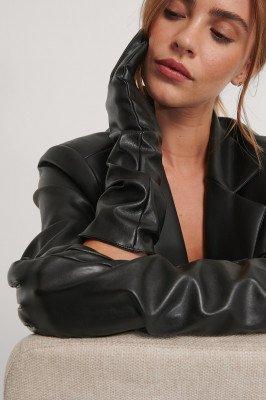 NA-KD Accessories NA-KD Accessories Lange Basic Handschoenen - Black