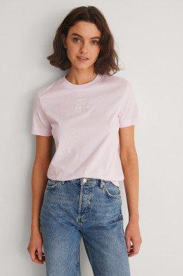 Calvin Klein Calvin Klein Organic Monogram Logo Tee - Pink
