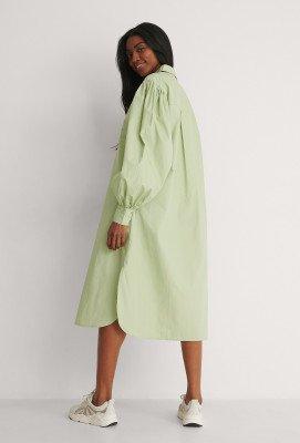 NA-KD Classic NA-KD Classic Organisch Oversized Shirtjurk - Green