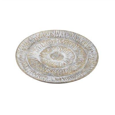 Firawonen.nl PTMD Vinya Gold metalen geribbelde schaal rond L