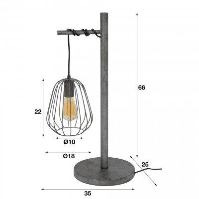 LifestyleFurn Tafellamp 'Rupert' lampion, oud zilver