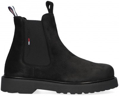 Tommy Jeans Zwarte Tommy Hilfiger Chelsea Boots Suede Chelsea