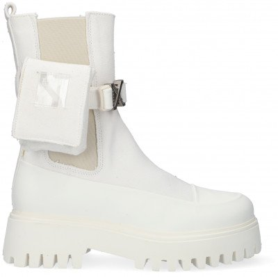 Bronx Witte Bronx Chelsea Boots Groov-y