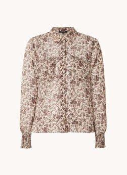 NIKKIE NIKKIE Flower Dusty blouse met bloemenprint en borstzakken
