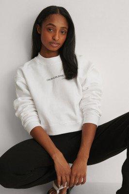 Calvin Klein Calvin Klein Cropped Trui - White