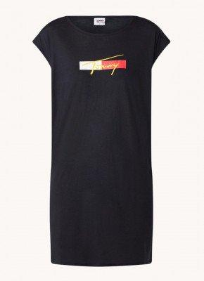 Tommy Hilfiger Tommy Hilfiger T-shirt strandjurk met logoprint