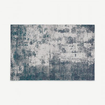 MADE.COM Genna vloerkleed, 200 x 300 cm, petrolblauw