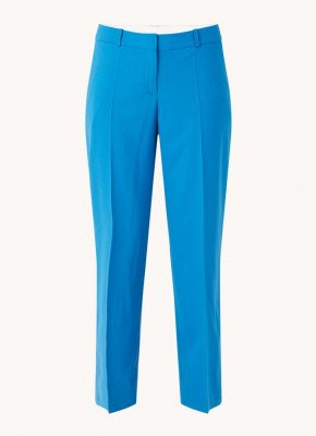Boss BOSS Toca high waist straight fit cropped pantalon van wol