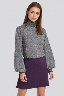 NA-KD Party NA-KD Party High Waist A-Line Skirt - Purple
