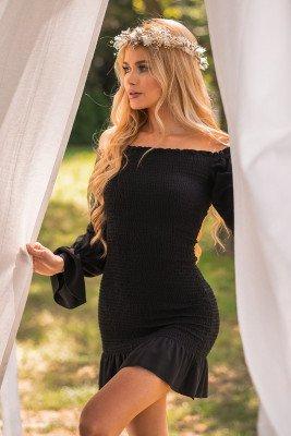 Pamela x NA-KD Reborn Jurk Met Lange Mouwen - Black