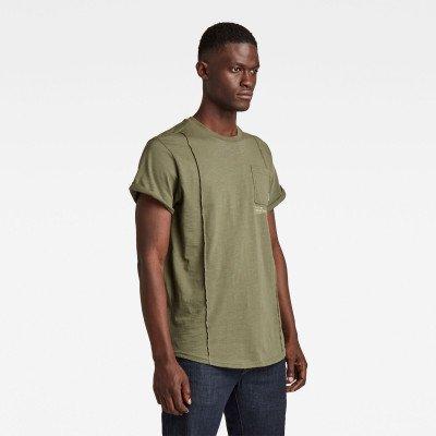 G-Star RAW Lash Pocket Back Graphic T-Shirt - Groen - Heren