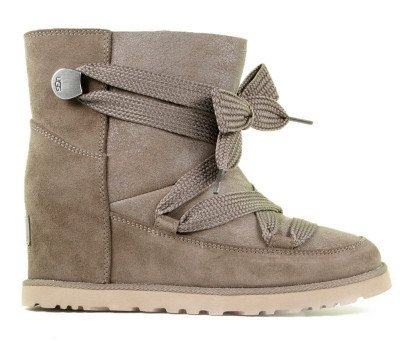 UGG UGG Classic Femme Lace-Up Taupe Dames Enkelboots