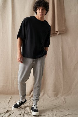 nu-in 100% Organic Tapered Lounge Joggers