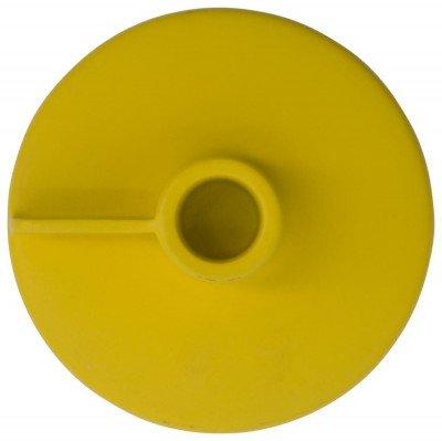 HEMA HEMA Kandelaar Voor Kaars/sfeerlicht Ø11x8 Metaal Geel (okergeel)