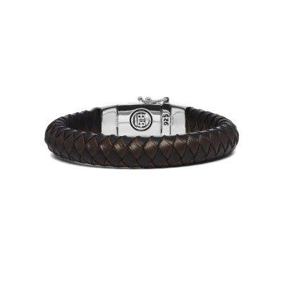 Buddha to Buddha Buddha to Buddha Armband Ben Leer Zwart&Bruin