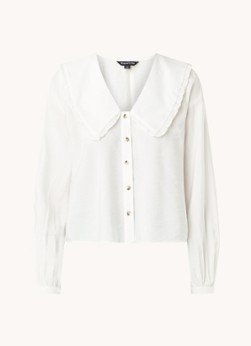 Whistles Whistles Cropped blouse met ruches