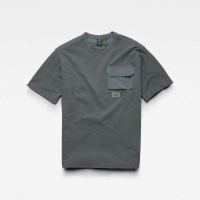 G-Star RAW Mesh Pocket Loose T-Shirt - Grijs - Heren