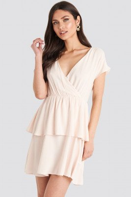 NA-KD NA-KD Waist Detail Mini Dress - Pink