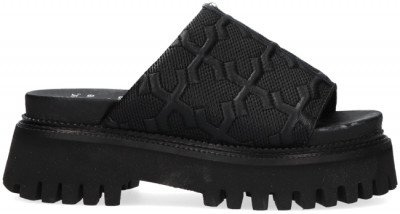 Bronx Zwarte Bronx Sandalen Groovy-sandal