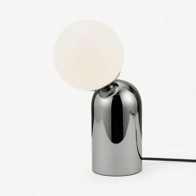 MADE.COM Vetro tafellamp, chroom en opaalglas