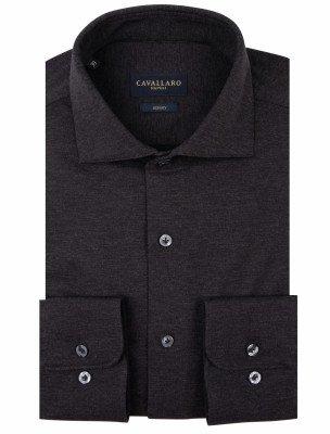 Cavallaro Napoli Cavallaro Napoli Heren Overhemd - Venerdi Overhemd - Grijs Melange