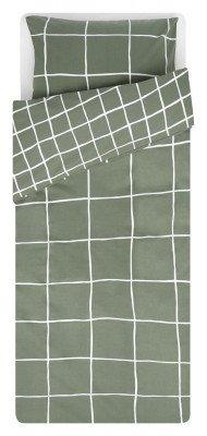 HEMA HEMA Dekbedovertrek 140x200/220 Zacht Katoen Ruit Groen (groen)