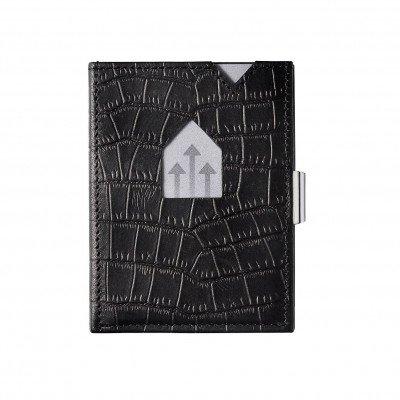 Exentri Exentri Leather Wallet Caiman Black