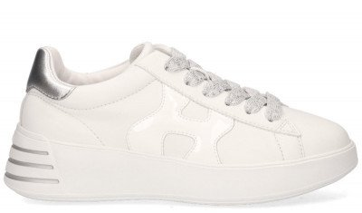 Hogan Hogan Rebel Wit/Zilver Damessneakers