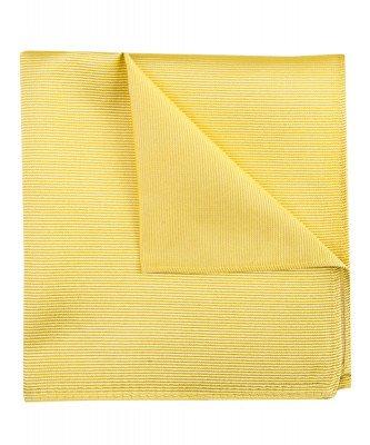 Profuomo Profuomo heren gele uni zijden pochet
