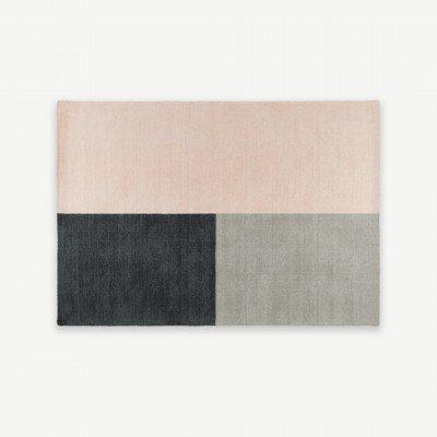 MADE.COM Elkan getuft vloerkleed van wol, 120 x 170cm, roze