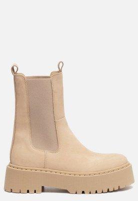 Ann Rocks Ann Rocks Hoge Chelsea boots beige