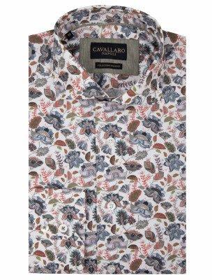 Cavallaro Napoli Cavallaro Napoli Heren Jeans - Cavallaro Napoli Heren Korte Broek - Amando Overhemd - Wit - Wit