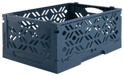 HEMA HEMA Klapkratje Recycled 16x24x10 - Donkerblauw