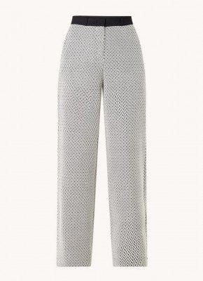 Vanilia Vanilia High waist wide fit pantalon van jersey met structuur
