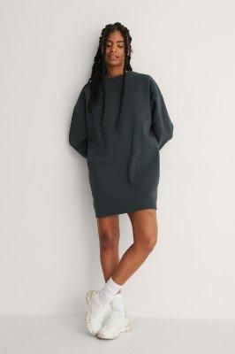 NA-KD Basic NA-KD Basic Organische Oversized Sweatshirtjurk - Grey