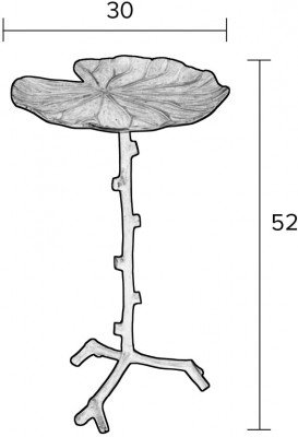 ZILT ZILT Bijzettafel 'Uffe', 52x30cm, kleur Zwart