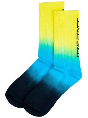 Santa Cruz Santa Cruz Stripe Fade Crew Socks geel
