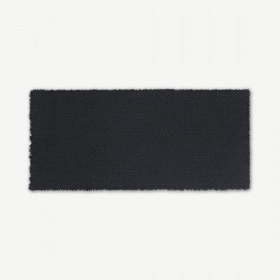 MADE.COM Dessa badmat, 100% katoen, groot 50 x 110 cm, grafietgrijs