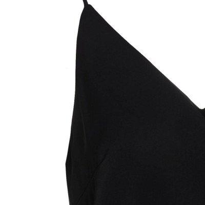 ComeGetFashion V NECK SINGLET BLACK - Zwart - polyester: 100% - maat S
