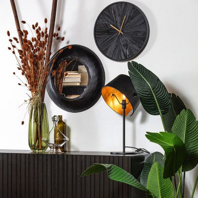WOOOD Exclusive WOOOD Tafellamp 'Pien', kleur Zwart