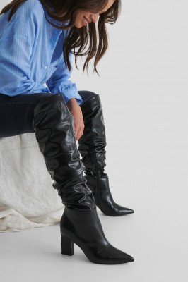 NA-KD Shoes NA-KD Shoes Wijde Hoge Laarzen - Black