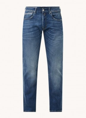 Replay Replay Grover straight fit jeans met medium wassing
