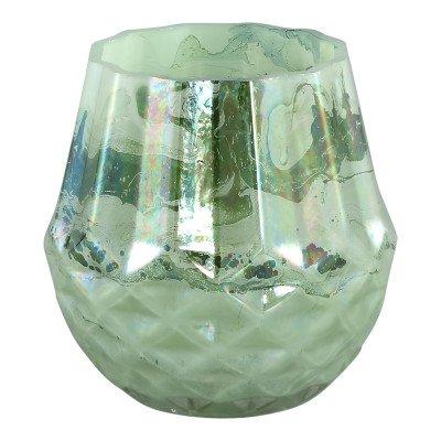 Ptmd liveable groen glazen ronde vaas s