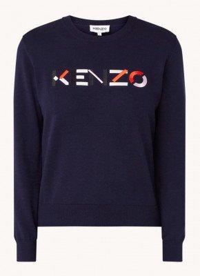 Kenzo KENZO Fijngebreide pullover met logoborduring