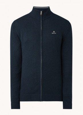 Gant Gant Fijngebreid vest met logoborduring